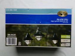 Hampton Bay 20-Light 231 in. Solar Black Integrated LED Naut