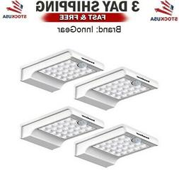 LED Solar Lights Dim to Bright Motion Sensor Outdoor Wall Se