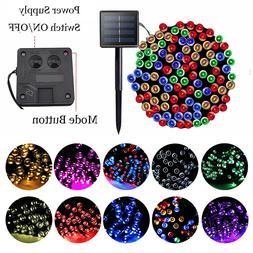 100/200 LED Solar Fairy Lights Outdoor Garden String Light X