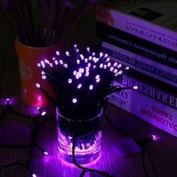 Qedertek 200 LED Solar Lights, 72 ft 8 Modes Solar String Li