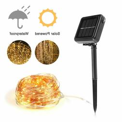 200 LED Solar Power Fairy Lights String Lamps Party Wedding