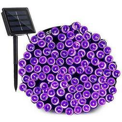 Qedertek 200 LED Solar Christmas Lights, 72 ft Halloween Str