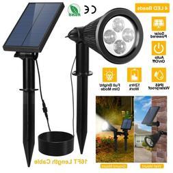 2000mAh Solar Power Spot Light LED Garden Lamp Floodlight Ou
