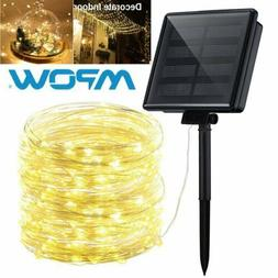200LED 72ft Solar Fairy String Light Copper Wire Outdoor Wat