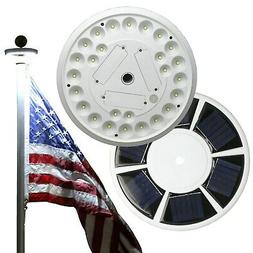 IMPROVED Solar Flagpole Light 26 LED Outdoor for 15-25' Foot
