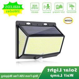208 LED Solar Power Light PIR Motion Sensor Outdoor Lamp Wal