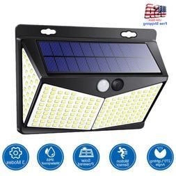 208 led solar power light pir motion