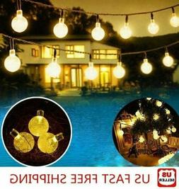 20ft 30 LED Solar String Ball Lights Outdoor Garden Yard Dec