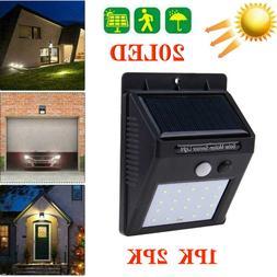 20LED Solar Power Light PIR Motion Sensor Outdoor Garden Yar