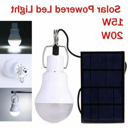 20W LED Solar Lights Panel Bulb Indoor Outdoor Camping Tent