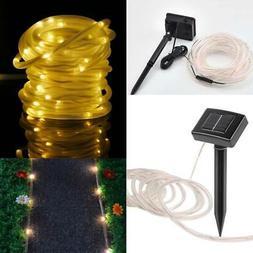 23ft SOLAR POWERED LED White Rope Light Hampton Bay 50 LED's