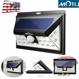 LITOM 24 LED Solar Powered PIR Sensor Motion Outdoor Light G