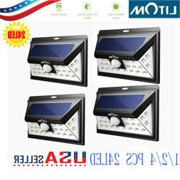 LITOM 24LED Solar Light PIR Outdoor Garden Security Lamp Mot