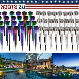 24pcs Solar Power LED Lawn Lamp Outdoor Waterproof Garden Li