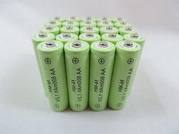 25 AA 600mAh Ni-Mh Rechargeable Battery Garden Solar Landsca