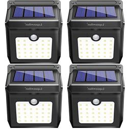 28 LEDs Solar Lights Outdoor, Luposwiten Solar Motion Sensor