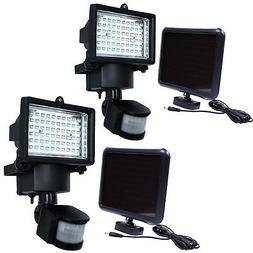2Pack 60 SMD LED Solar Powered Motion Sensor Security Light