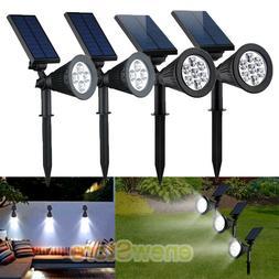 2Pack CREE Solar Spot Lights Outdoor Lawn Landscape LED Dusk