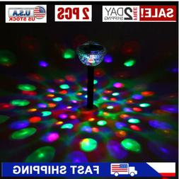 Solar Lights Outdoor Color Changing Garden LED Disco Pool Sh
