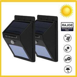 2pc LED Solar Powered Motion Sensor Light Outdoor Garden Sec