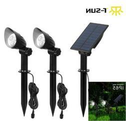 2Pcs LED Solar Power Spotlight Landscape Lights Outdoor Gard