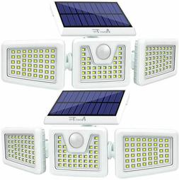 2pcs solar lights outdoor led waterproof motion