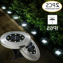 2Pk LED Solar Buried Floor Light Under Ground Lamp Outdoor P