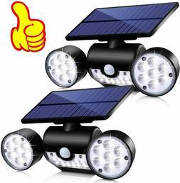 2Pk Outdoor Solar Motion Sensor Light, Security LED Flood Li