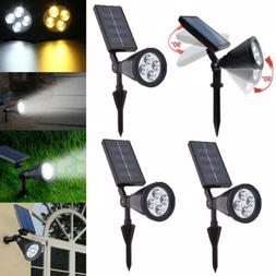 2X 4X Waterproof Solar Lights Outdoor Landscape Lighting Spo