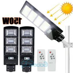 2X 990000LM 90W LED Solar Street Light Commercial IP67 Dusk