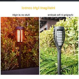 2x Outdoor 12LED Solar Torch Dance Flickering Flame Light Ga