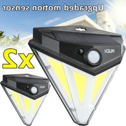 2x Solar Lights Motion Sensor Wall Light Outdoor Waterproof