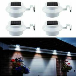 3 LED Solar Powered Gutter Light Outdoor/Garden/Yard/Wall/Fe
