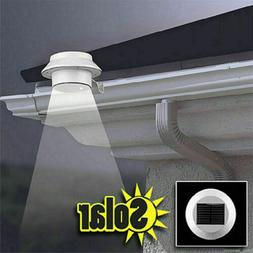 LED Solar Powered Gutter Lights Outdoor Garden Yard Wall Pat