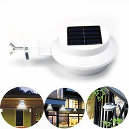 3 LED Solar Powered Light Outdoor Garden Security Wall Fence