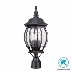 Hampton Bay HB7029-05 3-Light Black Outdoor Lamp