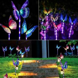 3PC Solar Garden Stake Butterfly Light Outdoor Landscape Lam