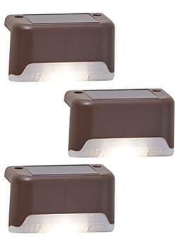 3 Solar LED Bright Deck Lights Outdoor Garden Patio Railing