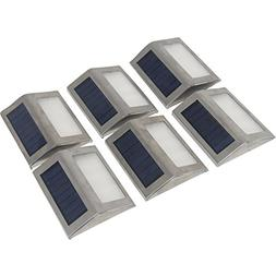Signstek  6 Pack 3 LED Solar Light - Outdoor Stainless Steel