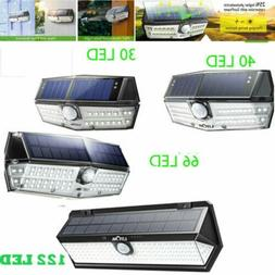 Litom 30//66/122LED Solar Power PIR Motion Sensor Wall Light