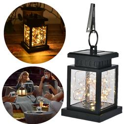 30 LED Solar Powered Hanging Lantern Lights Outdoor Garden T
