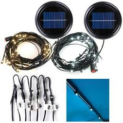 30 LED Solar String Light Fit 6-Rib 8ft 9ft Aluminum Outdoor