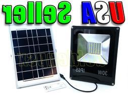 30W Solar Power LED Flood Light Spotlight + Remote Control W