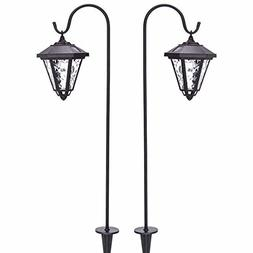 GIGALUMI 31.5 inch Solar Lights Outdoor, Hanging Solar Coach