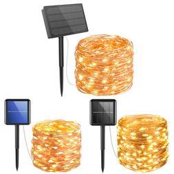 33FT-164FT Waterproof 100-500&LED @ Solar Fairy String Strip
