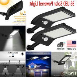 36 LED Solar Lights Motion Sensor Wall Light Outdoor Waterpr