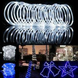 39FT 100LEDS Solar Rope Tube Fairy Lights LED String Waterpr