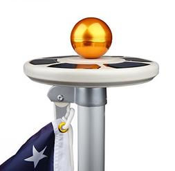 Sunnytech 3rd Generation Solar Power Flag Pole Flagpole Ligh