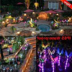 3x Solar Butterfly Light Color Changing LED Landscape Path S