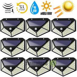 4/8Pack 100 LED Solar Light Outdoor Wireless Motion Sensor W